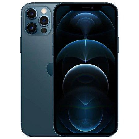 "iPhone 12 Pro Apple 256GB Azul-Pacífico Tela de 6,1"", Câmera Tripla de 12MP, iOS"