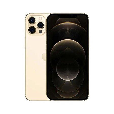 """iPhone 12 Pro Max Apple 128GB Dourado Tela de 6,7"""", Câmera Tripla de 12MP, iOS"""