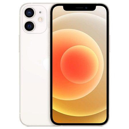 """iPhone 12 mini Apple 128GB Branco Tela de 5,4"""", Câmera Dupla de 12MP, iOS"""
