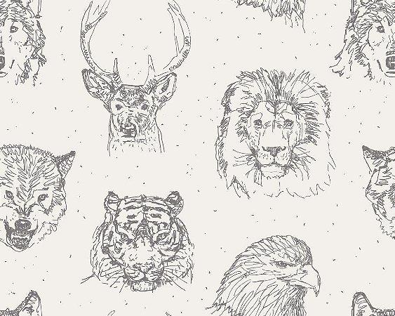 Papel de Parede Adesivo Animal Print 003