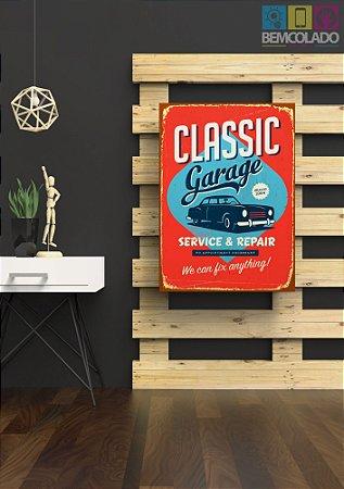 """Placa Decorativa """"Classic Car"""""""
