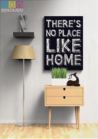 """Placa Decorativa """"No Place Like Home"""""""