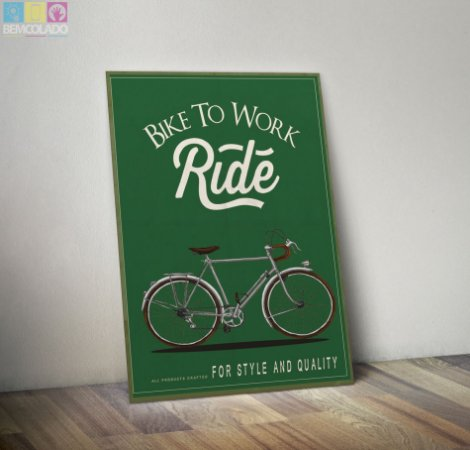 "Placa Decorativa ""Take a Ride"""
