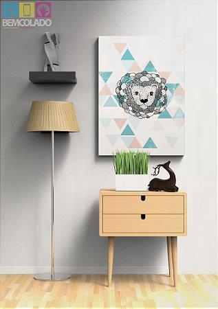 """Placa Decorativa """"Leãozinho"""""""