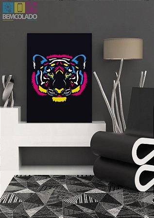 "Placa Decorativa ""Neon Tiger"""