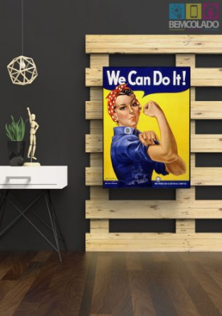"Placa Decorativa ""We Can Do It!"""