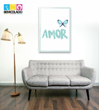 "Placa Decorativa ""Amor"""