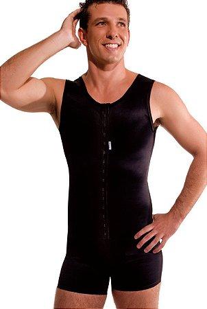 Cinta Modeladora Masculina com cueca boxer, com abertura frontal