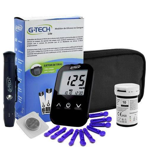 Medidor de Glicose G Tech Free Lite - Kit Completo