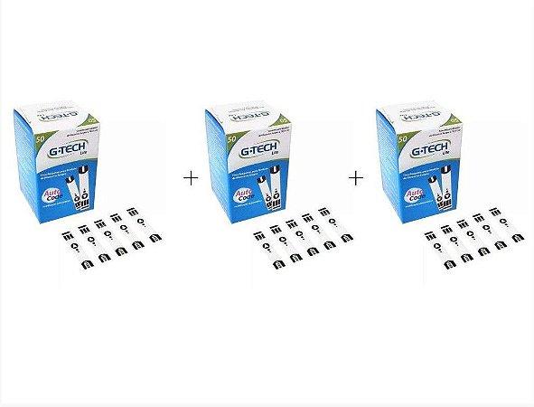 Tiras Para Medir Glicose Free Lite G Tech - KIT C/ 3 CAIXAS ECONOMIA DE FRETE