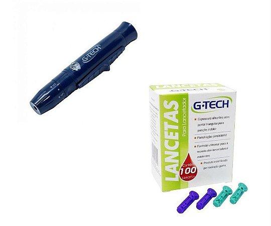 Caneta Lancetadora G Tech + 100 Lancetas