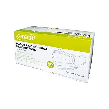 Máscara Cirúrgica Descartável Tripla Com Filtro G-Tech