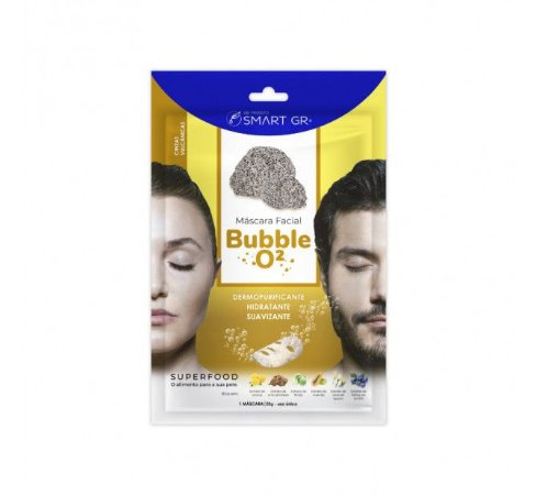 MÁSCARA FACIAL BUBBLE O² CINZAS VULCÂNICAS SMART GR