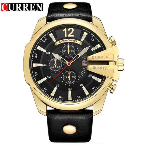 DOOBO Relógio Ouro Homens Top Marca de Luxo Popular Gold