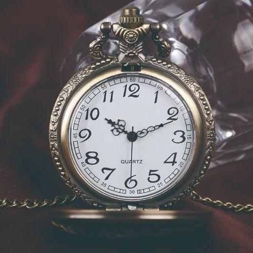 WOLF Relógio De Bolso Incrível Colar Cadeia Pingente Bronze