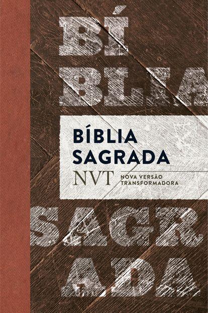 Bíblia SagradaNVT - Madeira (letra normal/flexível)