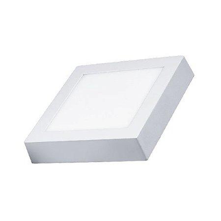 Plafon Quadrado Sobrepor LED 12 Watts - Bivolt