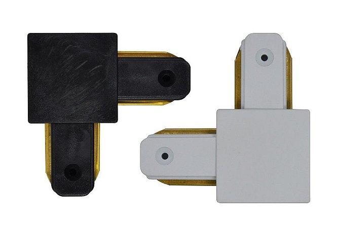 Emenda Eletrificada Trilho Simples 90° (Branca ou Preta)