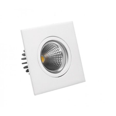 Spot LED 3 Watts Direcionável Quadrado (6.500K/Branca)