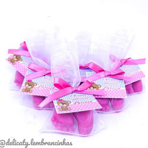 Lembrancinhas Maternidade - Sachê pezinho perfumado plus