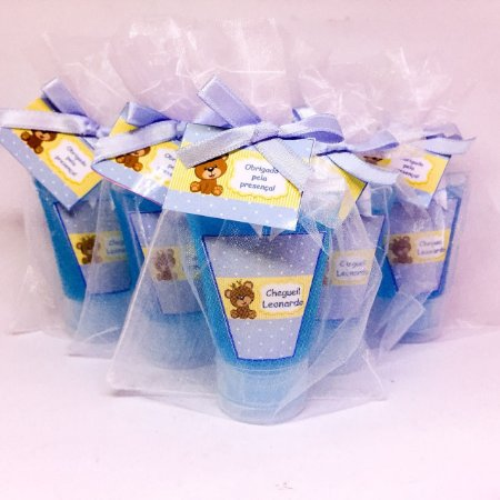 Lembrancinhas Maternidade - Mini álcool gel 40 ml na bisnaga plus