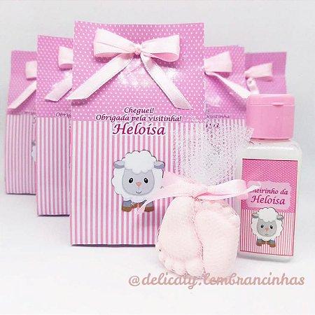 Lembrancinhas Maternidade - Sacolinha Personalizada com Hidratante e Sachê perfumado