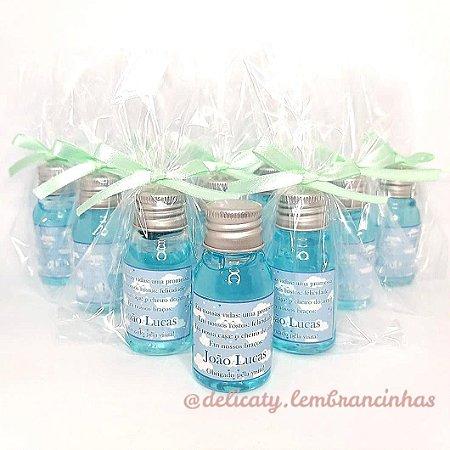 Lembrancinha Chá de Bebê - Mini álcool gel 30 ml basic
