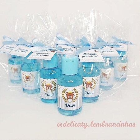 Lembrancinha Chá de Bebê - Mini álcool gel 30 ml basic com tag