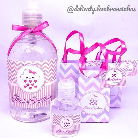 Kit Maternidade 4 - Mini álcool gel 40 ml na sacolinha personalizada + Álcool gel 500 ml