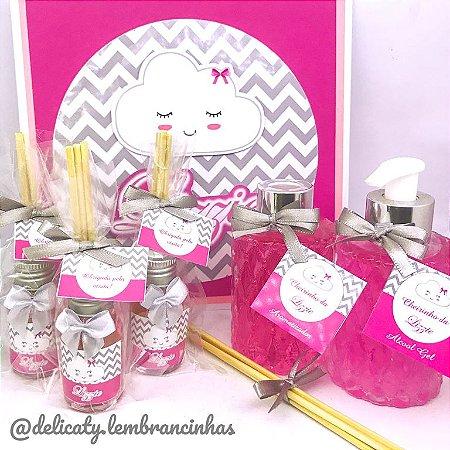 Kit Maternidade 6 - Mini aromatizador 30 ml classic + Kit Alcool e Aroma Luxo + Placa Maternidade