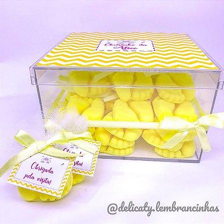 Kit Maternidade 7 - Sachê pezinho perfumado na Caixa Personalizada