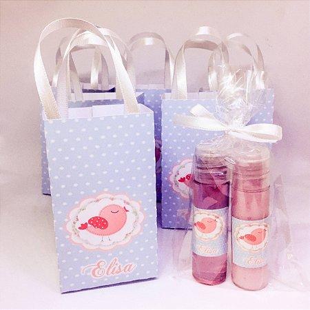 Lembrancinha Maternidade - Kit Sabonete Liquido e Hidratante dose unica na Sacolinha Personalizada