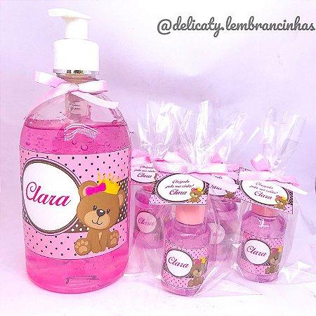 Kit Maternidade 5 - Mini álcool gel 30 ml basic com tag + Álcool gel 500 ml
