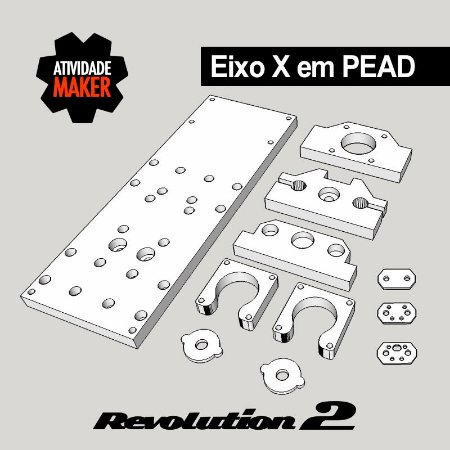 Kit Estrutura PEAD Eixo X - Revolution 2