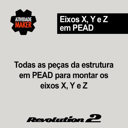 Kit Estrutura PEAD Eixos X, Y e Z - Revolution 2