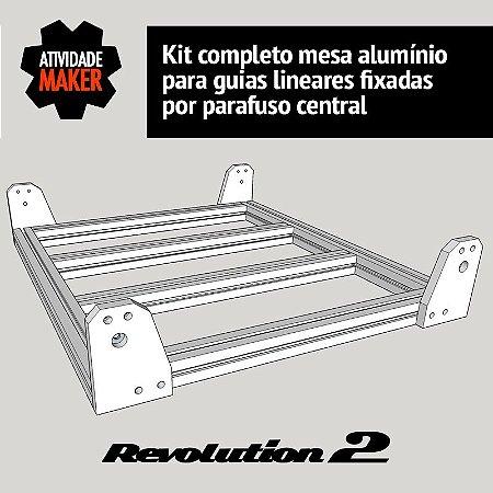 Kit Completo Mesa de Alumínio - guias por furo central