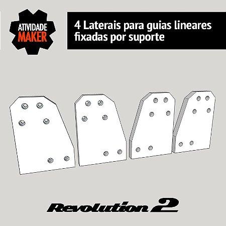 Laterais para guias lineares fixadas por suporte