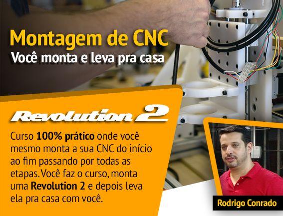 Montagem de CNC Router Revolution 2 em Limeira/SP