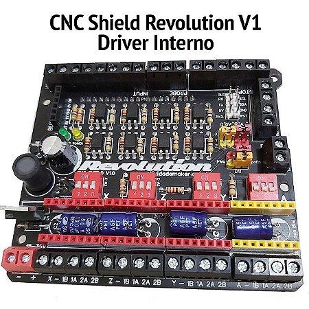 CNC Shield Revolution V1.0 + Montada