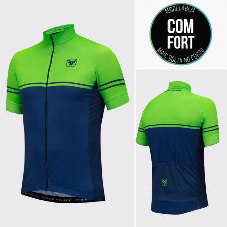 CAMISA CICLISMO MASCULINA - TEAM ONE - FREE FORCE