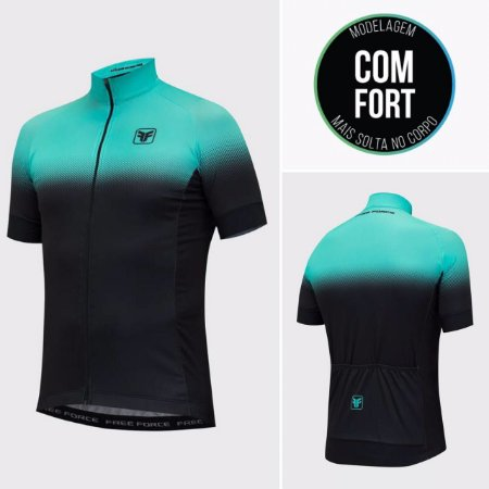 CAMISA CICLISMO MASCULINA - TEAM TWO - FREE FORCE