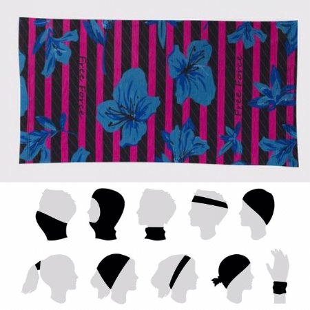 BANDANA MULTIUSO CICLISMO - FLOWERS - FREE FORCE