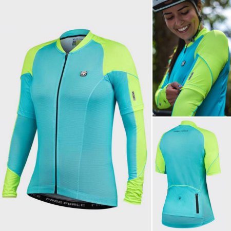 COMBO BLUSA + MANGUITO CICLISMO - KINGLY - FREE FORCE