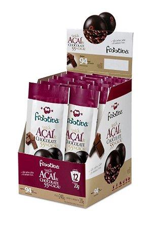 Frootiva Açaí & Chocolate Caixa com 12 unidades