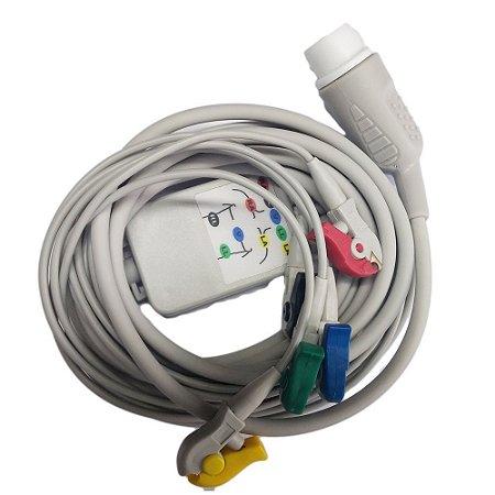 Cabo Paciente 5 vias Para Cardioversor Cmos Drake VIVO / LIFE 400 Plus Futura