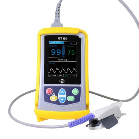 Oxímetro de pulso portátil com LCD colorido e onda pletismográfica UT-100 - MD