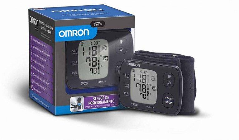 Aparelho de Pressão Digital de Pulso Elite HEM-6221BR - Omron