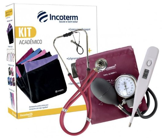 Kit Acadêmico KA100 Bordô Incoterm