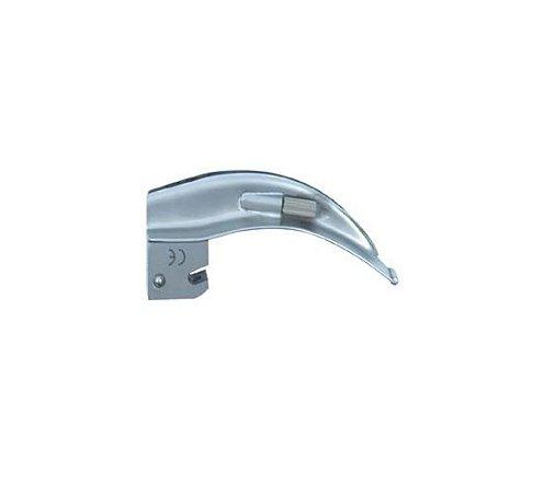 Lâmina de Aço Inox Convencional P/ Laringoscópio Curva 1 - Protec