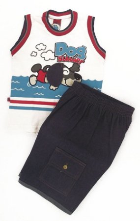 Conjunto Camiseta + Short Jeans